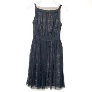 Darling Black Lace Overlay Dress - XS